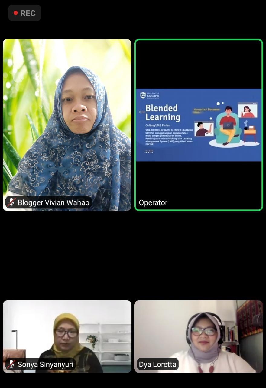 vivian wahab ikut webinar sma lazuardi